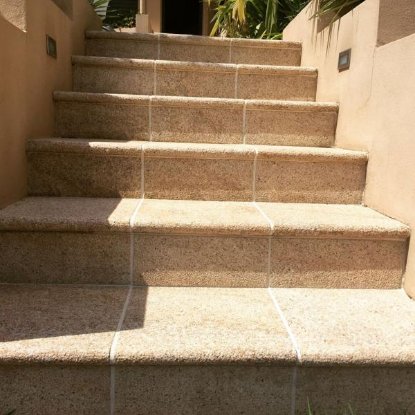 Sandstone stairs